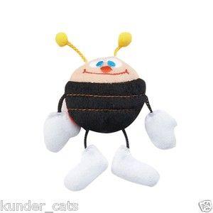 Ladybug Jitterbug Teaser Cat Toy Pole Plush Catnip Bell Bug