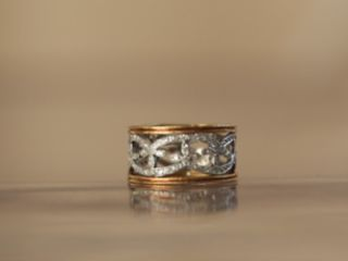 Cathy Waterman Platinum Diamond Band Ring 22kt Gold