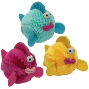 Bubble Fish Voice Chip Plush Ball Dog Toy Toys Puppy