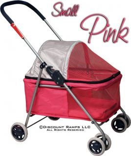 Pink Folding Dog Stroller Carrier Cat Strollers Dogs Pet Str 1S Pink