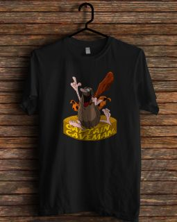 New Hanna Barbera Plush Captain Caveman Cartoon T Shirt