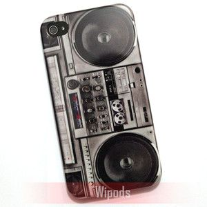 Retro Radio Cassette Tape Player Hard Back Case Cover for iphone 4 4S
