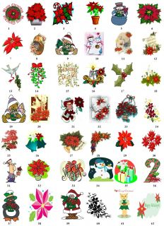 Poinsettia Christmas Return Address Labels Gift Favor Tags Buy 3 Get 1
