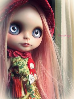 Red Hat Girl OOAK Custom Blythe Doll by Poonchaya 15