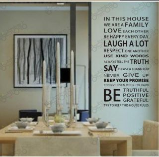 0748 DIY Letter Quotes Words Mural Decals Decor Home Art Removable