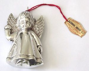 Sterling Silver Cazenovia Abroad Angel Christmas Ornament