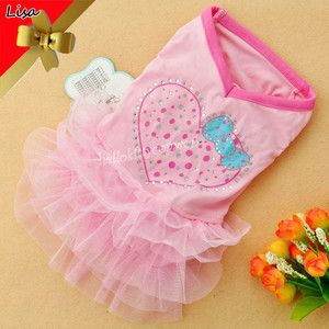Tulle Dress Dog Cat Clothes Pet Apparel Clothing s 35cm 13 78