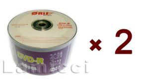 DVD R 16x 120Min 4 7GB Logo Top Premium 100pcs Blank Media for