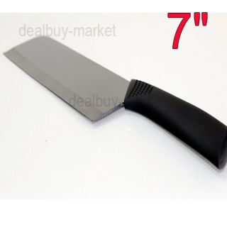 New 1pc 7 Ultra Sharp Kitchen Ceramic Cutlery Knives Black 18cm Free