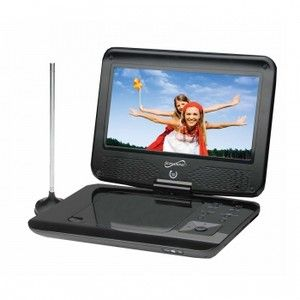 LCD SUPERSONIC PORTABLE DVD CD MP3 PLAYER w/ TV TUNER TELEVISION