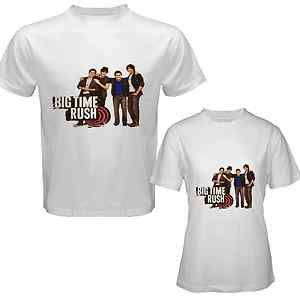Big Time Rush Band CD Music Tour Ticket Tshirt White Size s M L XL