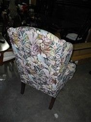 features wing back chair excellent condition cedar grove upholstery