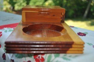 Vtg Cedar Wood Souvenir Trinket Jewelry Box Hidden Valley Ranch Lake