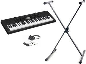 New Casio CTK 3200 61 Key Portable Keyboard Electric Piano Stand