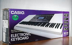 Casio WK 220 Electronic Keyboard System Step Up Lesson 76 Key w Stand