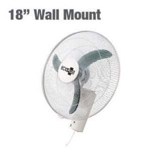 18 3 Speed Wall Mount Oscillating Fan   air mounted ceiling active