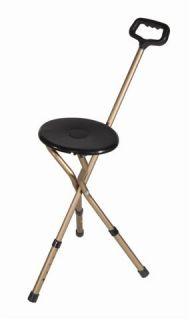 Folding Cane Seat, Sports Tripod Portable Travel Walking Hiking Chair