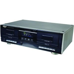 Pyle Pro PT659DU Dual Cassette Deck with  Recording Works with PC