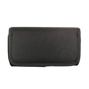 For Samsung Rugby Smart Canvas Cell Phone Pouch Case Horizontal Black