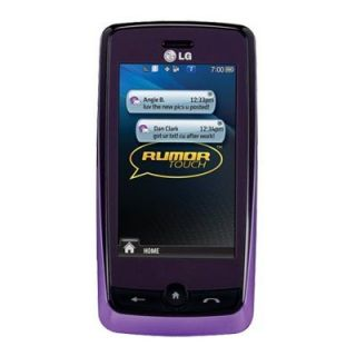 lg ln510 rumor touch sprint purple camera cell phone with a display