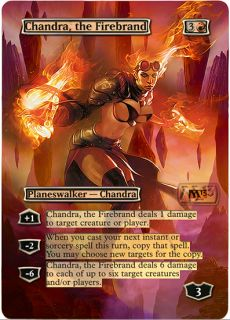 Foil Altered Art Sexy Full Art Chandra The Firebrand M13 Magic The