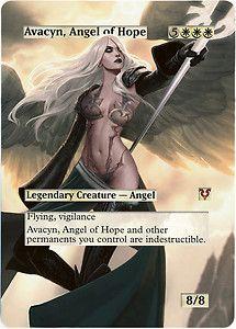 Foil Altered Art Sexy Avacyn Angel of Hope Full Art Avacyn