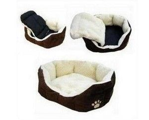 Hot Sale Pet Puppy Dog Cat Beds House Lamb Flocking Soft