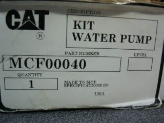 Caterpillar Water Pump Repair Kit MCF 00040 MCF00040 NW