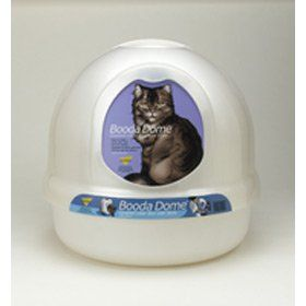 features of booda dome covered cat litter box entrance measures 7 5 8