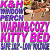 New K H Heated Thermo Cat Bed Kitty Sill Window Perch