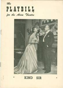 Playbill Kind Sir Mary Martin Charles Boyer Perry Como