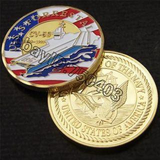 Navy USS FORRESTAL CV 59 Challenge coin 252