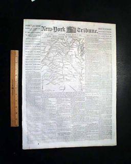 Battle of Cedar Mountain Stonewall Jackson Victory Map Civil War 1862