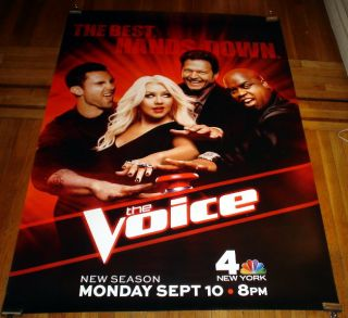 VOICE NBC BUS SHELTER 6FT POSTER CeeLo Green Adam Levine Blake Shelton