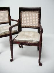 Dollhouse Miniature Famous Furniture 6800 Cane Chairs