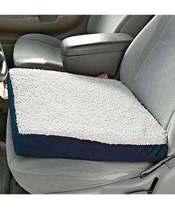 NEW Fleece Gel Chair Seat Cushion Car Auto 18 1 2 L x 16 1 2 W x 3 1 2