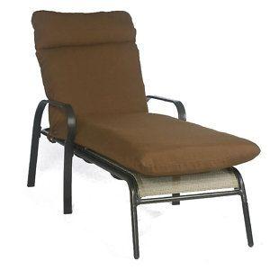 Living Brown Chaise Patio Pool Deck Lounge Chair Furniture Cushion