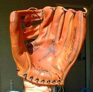 Jim Catfish Hunter Wilson USA Made Baseball Glove