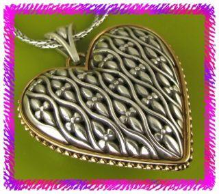 Brighton Silver 2 Tones Cathedral Heart Necklace NWTag