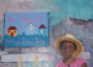 signed j catlin jamaica caribbean art oil painting