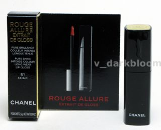 CHANEL ROUGE ALLURE Extrait de Gloss LIP GLOSS *FATALE* 61 MINI PURE