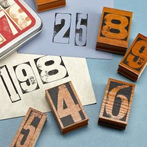 Cavallini & Co. Rubber Stamp Set Vintage Numbers