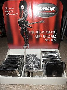 KISS PAUL STANLEY WASHBURN Guitar Counter Display with 60 picks 48