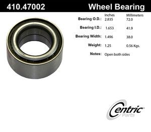 Centric 410 47002E Front Wheel Bearing