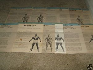 CHARLES ATLAS 12 Lot Bodybuilding Muscle + Exercise Workout Courses