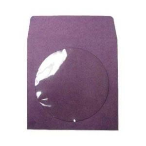 400 CD DVD Purple Color Paper Sleeves Clear Window