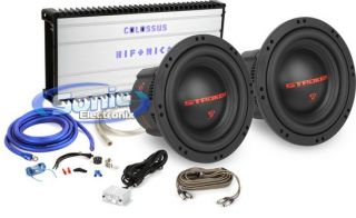 Pair of Cerwin Vega 12 STROKER Series Subs + Hifonics Colossus Series