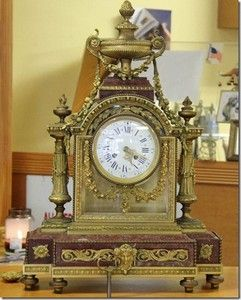French Mantel Clock Made by Lemerle Charpentier 464