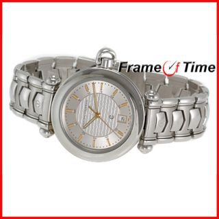 Philippe Charriol Mens Colvmbvs Stainless Steel Silver Gray Columbus