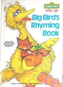 sesame street big bird s rhyming book 1979 pop up